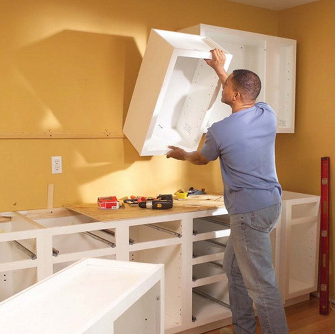 Installing Cabinets In Kitchen Bath And Kitchen East Coast Construction And Remodeling Inc